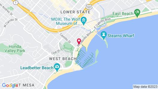 West Beach Inn, a Coast Hotel Map
