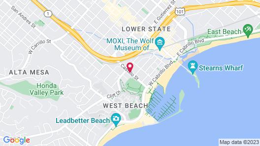 Brisas del Mar, Inn at the Beach Map