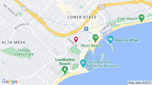 Beach House Inn Map