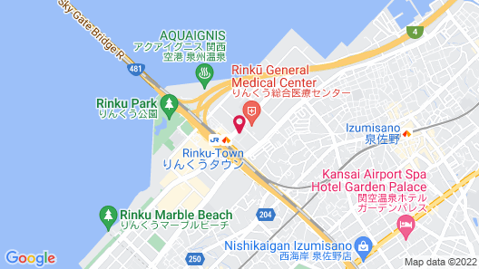 Kansai Airport Washington Hotel Map