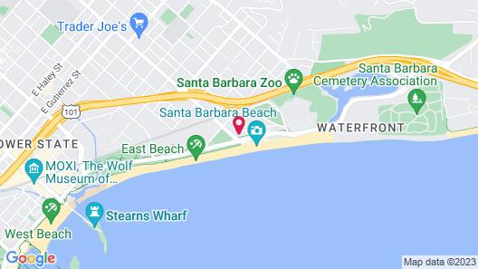 Santa Barbara Inn Map