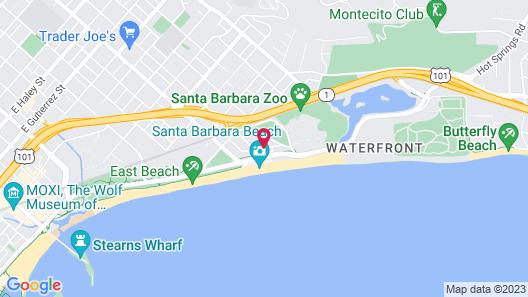 The Inn at East Beach Map