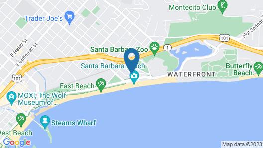 Motel 6 Santa Barbara, CA - Beach Map