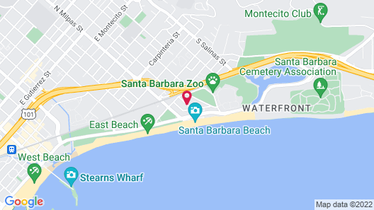 Pacific Crest Hotel Santa Barbara Map