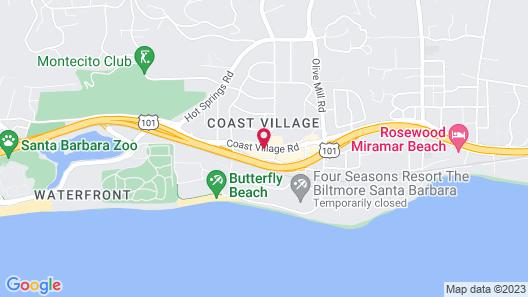 Coast Village Inn - Santa Barbara Map