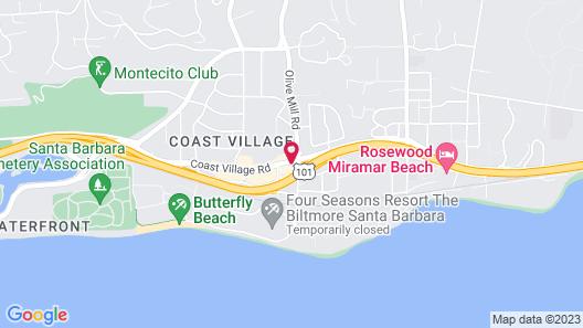 Montecito Inn Map