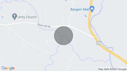 Summerville Cabin w/ Private Creek/blue Hole! Map