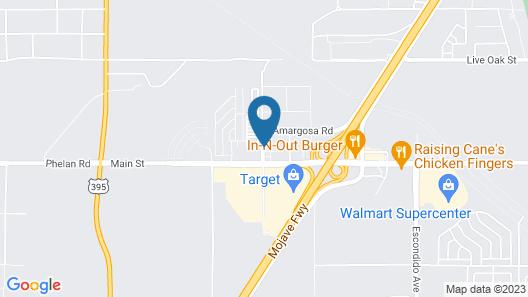 Motel 6 Hesperia, CA - West Main Street I-15 Map