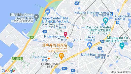 Hotel Kanade Kankukaizuka Map