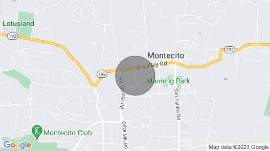 Classic Montecito Cottage Map