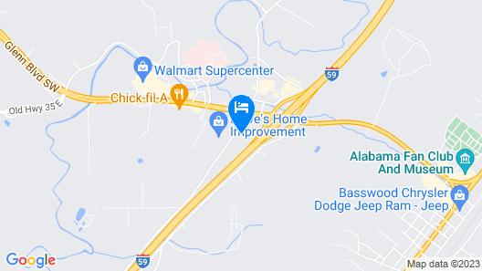 Hampton Inn Ft Payne Map