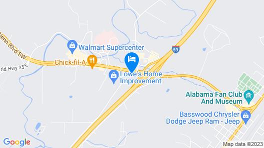 Econo Lodge Fort Payne Map