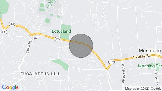 Great Escape in Montecito Map
