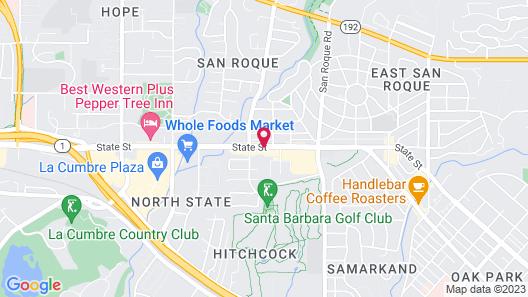 Motel 6 Santa Barbara, CA - State Street Map