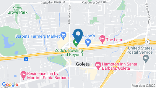 Motel 6 Goleta, CA - Santa Barbara Map