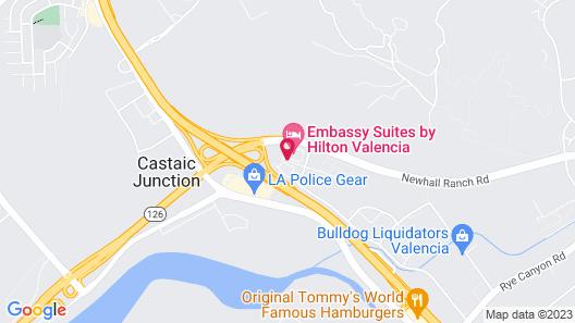 Courtyard by Marriott Santa Clarita Valencia Map