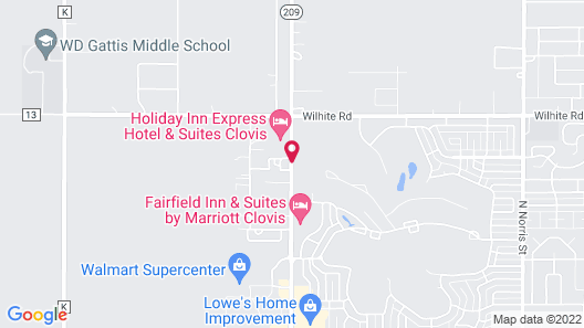 Towneplace Suites by Marriott Clovis Map
