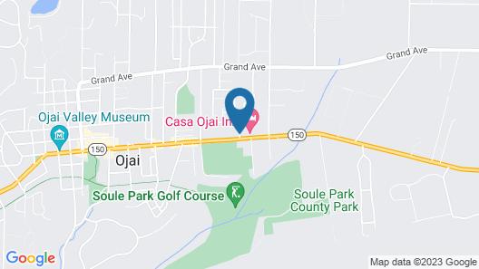 Hummingbird Inn of Ojai Map