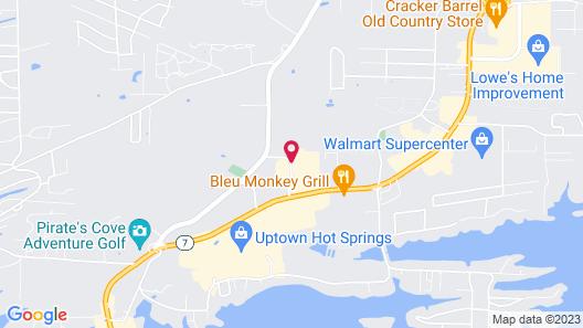 Hampton Inn Hot Springs Map