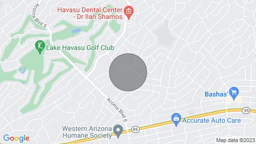 Efficient Lake Havasu Apartment with Private Pool! Map