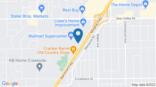 Hawthorn Suites by Wyndham Victorville Map