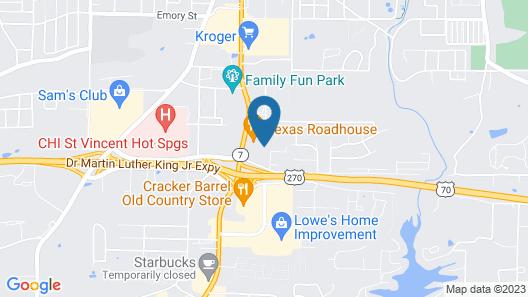 Comfort Inn & Suites Hot Springs Central Map