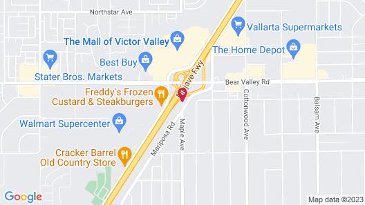 Econo Lodge Hesperia - Victorville I-15 Map