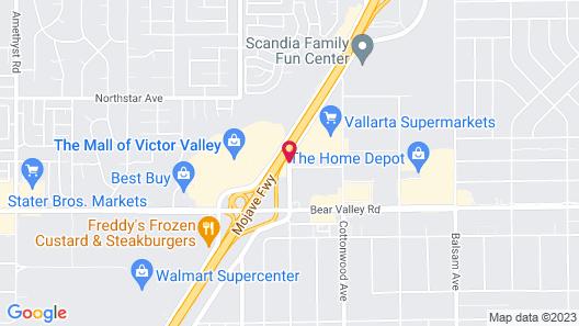 Comfort Suites Victorville I-15 Map