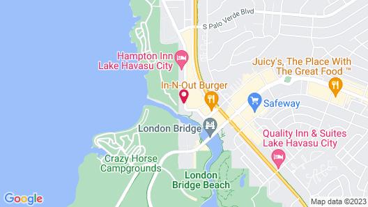 Motel 6 Lake Havasu, AZ - Lakeside Map