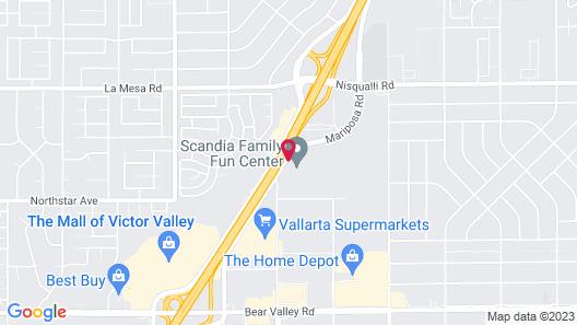 Hilton Garden Inn Victorville Map
