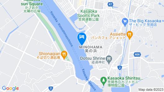 Auberge Minohama Ryuseki West Map