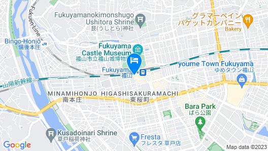 Fukuyama New Castle Hotel Map