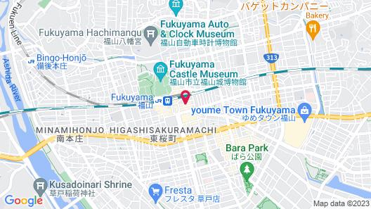 AREA INN FUSHIMICHO FUKUYAMA CASTLE SIDE -Hostel Map