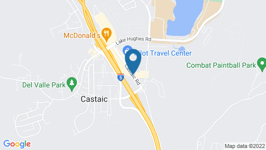 Rodeway Inn Magic Mountain Area Map