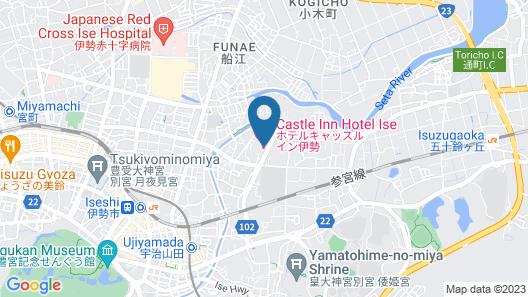 Hotel Castle inn Ise Map