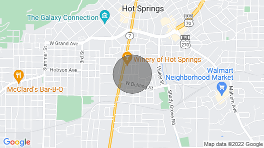 Studio 1 Mi to Dwtn Hot Springs & Nat'l Park! Map