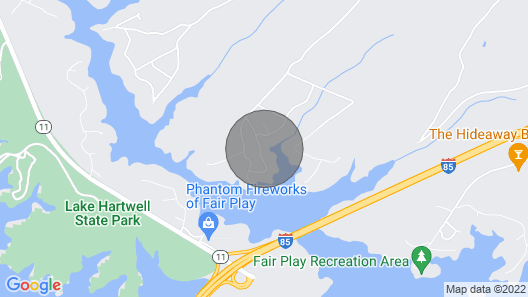 Quaint, Cozy, and Quiet Cabin on Lake Hartwell Map
