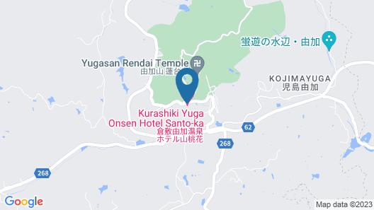 Kurashiki Yuga Onsen Hotel SANTO-KA Map