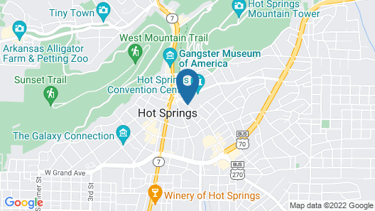 The Hotel Hot Springs Map