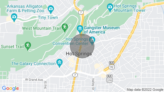 In the Heart of Downtown Historic Hot Springs Map