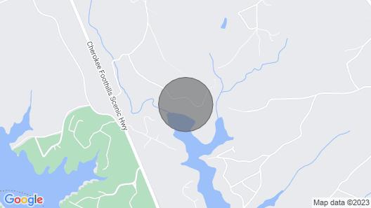 Waterfront Lake Hartwell Cabin W/dock-near Clemson Map