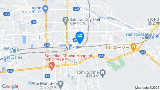 Hotel Route Inn Sakurai Ekimae Map