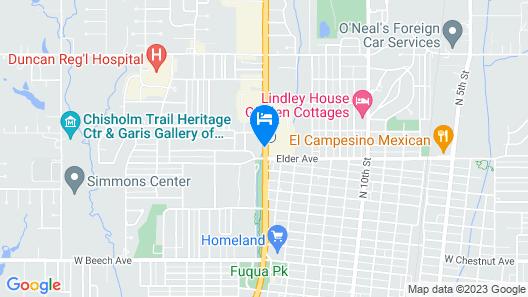 Quality Inn Duncan Hwy 81 Map