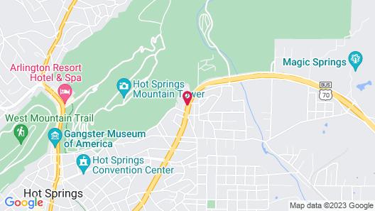 Red Roof Inn Hot Springs Map