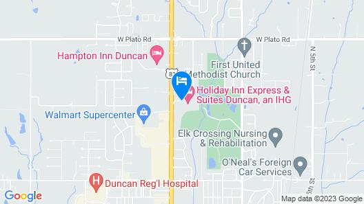 Fairfield Inn & Suites Duncan Map