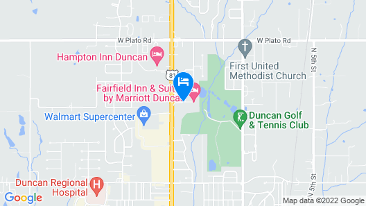 Holiday Inn Express & Suites Duncan Map