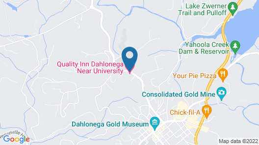 Quality Inn Dahlonega Near University Map