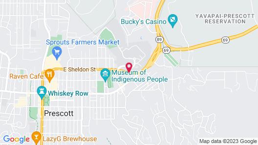 Motel 6 Prescott, AZ Map