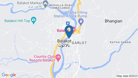 Balakot Shelton Hotel Map
