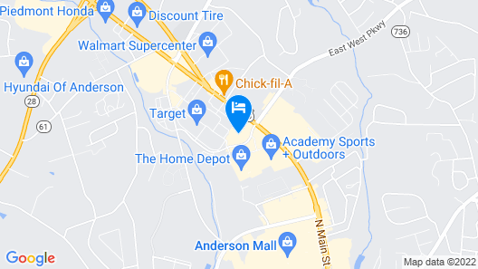 Holiday Inn Anderson, an IHG Hotel Map